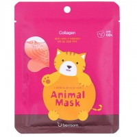 Маска тканевая для лица с морским коллагеном Berrisom Animal Mask Series Cat 25 мл