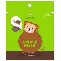Маска тканевая для лица с муцином улитки Berrisom Animal Mask Series Monkey 25 мл